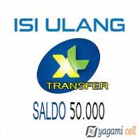 Pulsa Reguler XL Transfer - XL Transfer 50rb