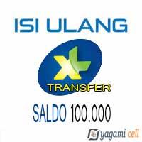 Pulsa Reguler XL Transfer - XL Transfer 100rb